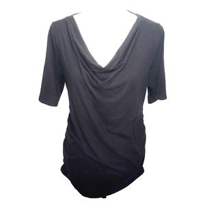 Motherhood Maternity Black Top Large Ruched Cute